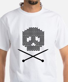 Knit Skull and Crossbones T-Shirt