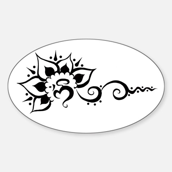 Rising Om - Black Decal