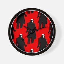 red nosferatu Wall Clock