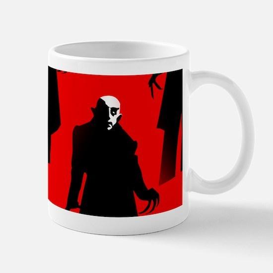 red nosferatu Mugs