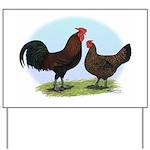 Redcap Fowl Yard Sign