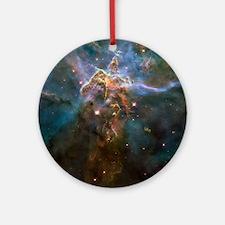 Carina Nebula by Hubble/STScI Round Ornament