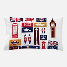 United Kingdom Icons Pillow Case