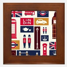 United Kingdom Icons Framed Tile