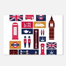 United Kingdom Icons Postcards (Package of 8)