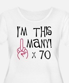 70, middle finger salute Plus Size T-Shirt
