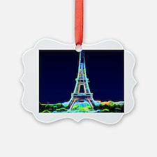 Glowing Eiffel Tower, Paris, Fran Ornament