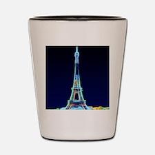 Glowing Eiffel Tower, Paris, France Shot Glass