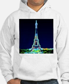 Glowing Eiffel Tower, Paris, Fra Hoodie Sweatshirt