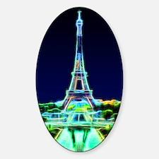 Glowing Eiffel Tower, Paris, France Decal