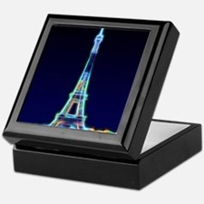 Glowing Eiffel Tower, Paris, France Keepsake Box