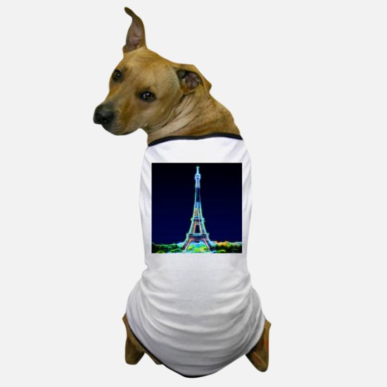 Glowing Eiffel Tower, Paris, France Dog T-Shirt