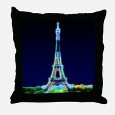 Glowing Eiffel Tower, Paris, France Throw Pillow