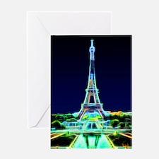 Glowing Eiffel Tower, Paris, France Greeting Card