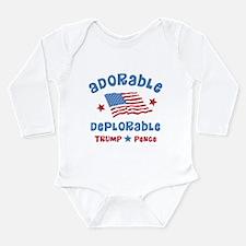 Adorable Deplorable Long Sleeve Infant Bodysuit