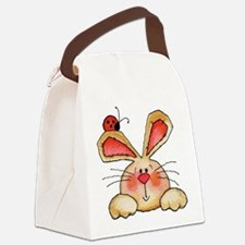 BUNNY EARS AND LADY BUG Canvas Lunch Bag