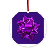 Purple Gift Bow Ornament
