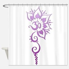 Rising Om - Purple Fade Shower Curtain