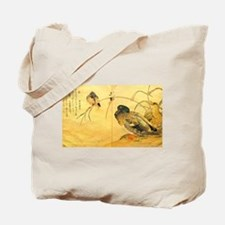 Kingfisher and Mallard - Kitagawa Utamaro Tote Bag