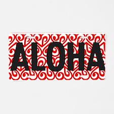 Unique Aloha Aluminum License Plate