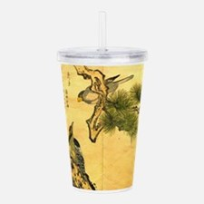 Woodpecker and Grossbe Acrylic Double-wall Tumbler