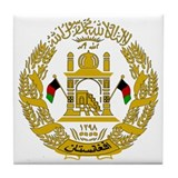 Afghanistan coat of arms Tile Coasters