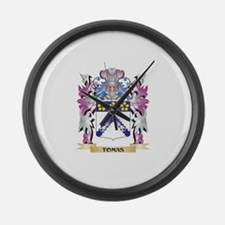 Tomas Coat of Arms - Family Crest Large Wall Clock