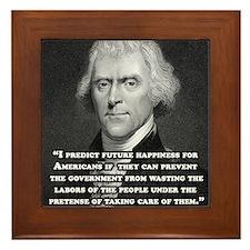 Thomas Jefferson Framed Tile