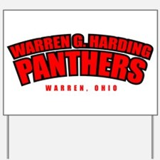 Warren G. Harding Panthers Yard Sign