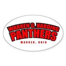 Harding Panthers Oval Decal