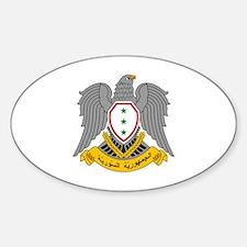 Unique Syria coat arms Sticker (Oval)