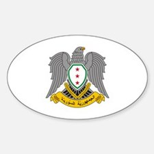 Cute Syria coat arms Sticker (Oval)