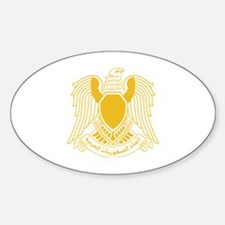 Funny Syria coat arms Sticker (Oval)