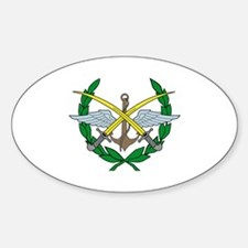 Cool Syria coat arms Sticker (Oval)