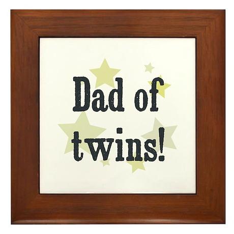 Dad of twins! Framed Tile