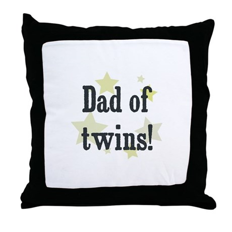 Dad of twins! Throw Pillow