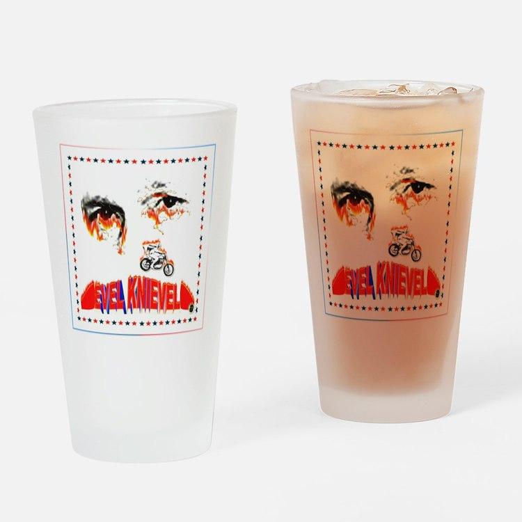 Evel Knievel Drinking Glass