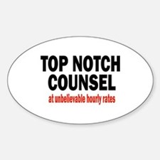 Top Notch Counsel Oval Decal