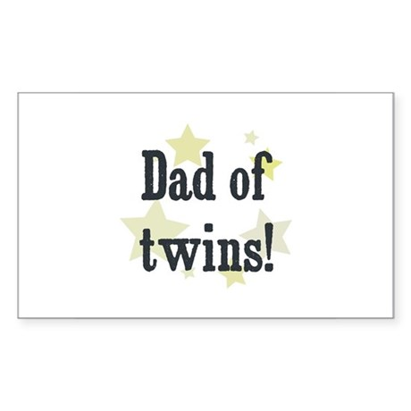 Dad of twins! Rectangle Sticker