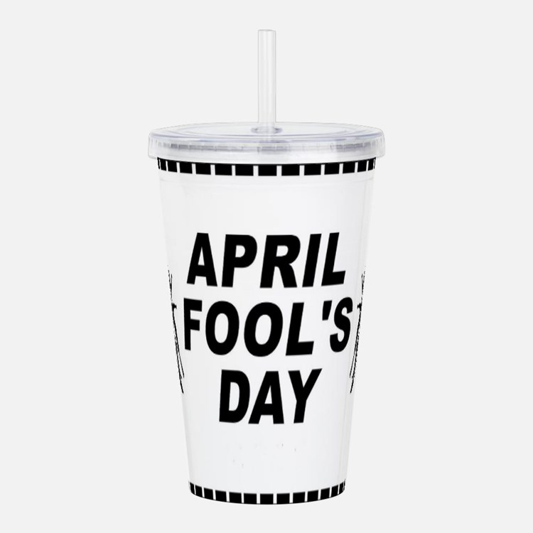 April Fools Day Acrylic Double-wall Tumbler