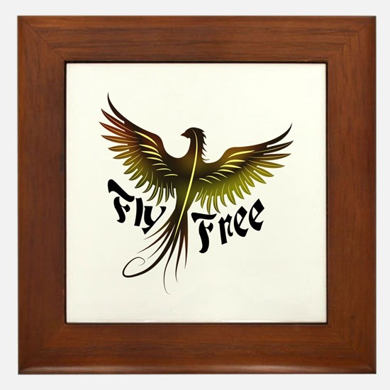 Fly Free - Phoenix Framed Tile