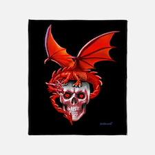 Skull Drangonry Throw Blanket