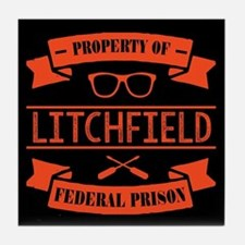 Property of Litchfield Federal Prison Tile Coaster