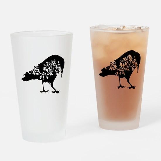 Fancy Raven Drinking Glass