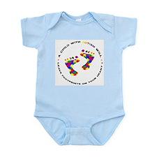Footprints on your heart circ Infant Bodysuit