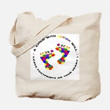 Footprints on your heart circ Tote Bag