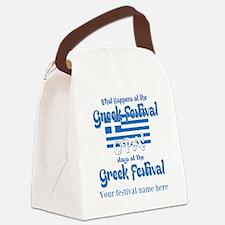 Greek Festival Canvas Lunch Bag