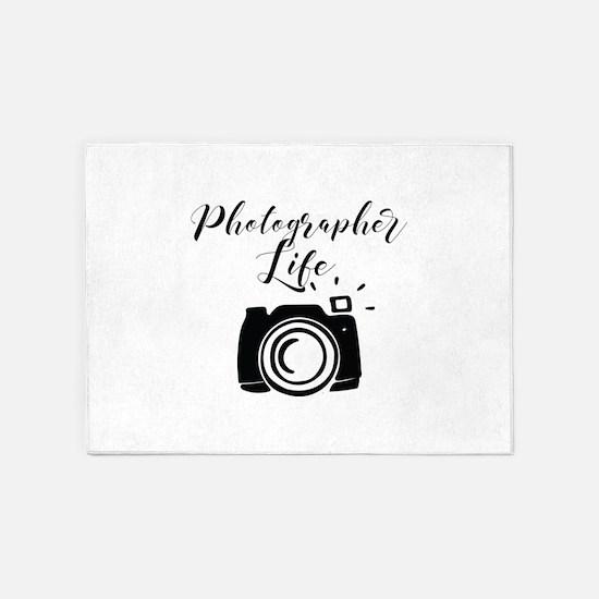 Photographer Life 5'x7'Area Rug