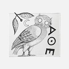Athenian Owl Throw Blanket
