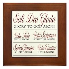 SoliDeoGloria Framed Tile